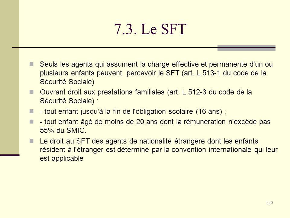 7.3. Le SFT
