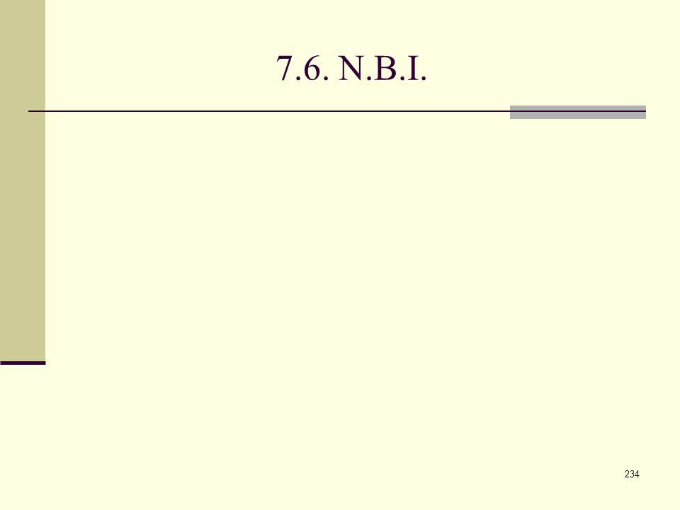 7.6. N.B.I.