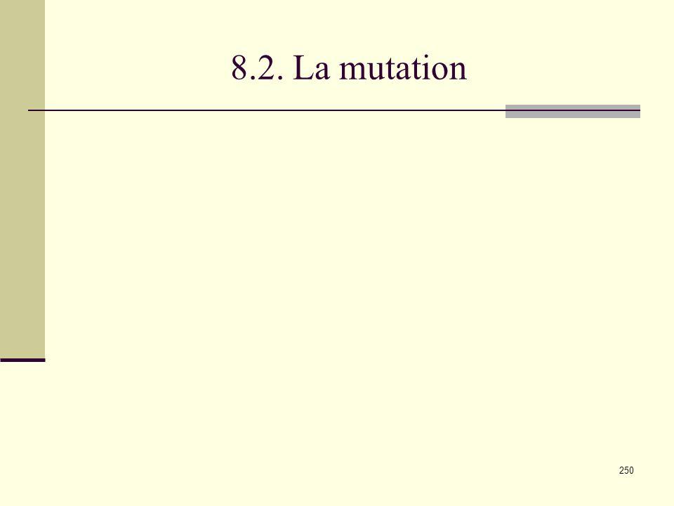 8.2. La mutation