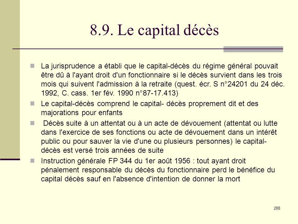 8.9. Le capital décès