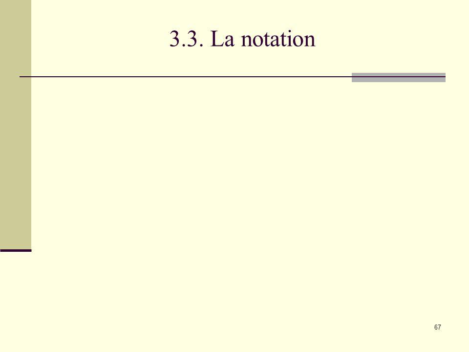 3.3. La notation