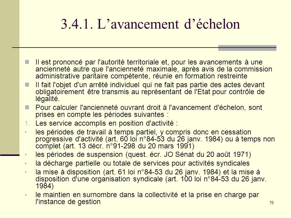Le statut de la fonction publique territoriale ppt - Grille avancement d echelon fonction publique territoriale ...