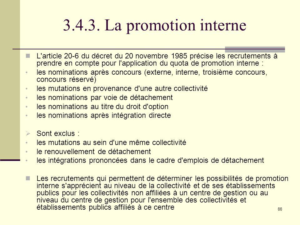 3.4.3. La promotion interne