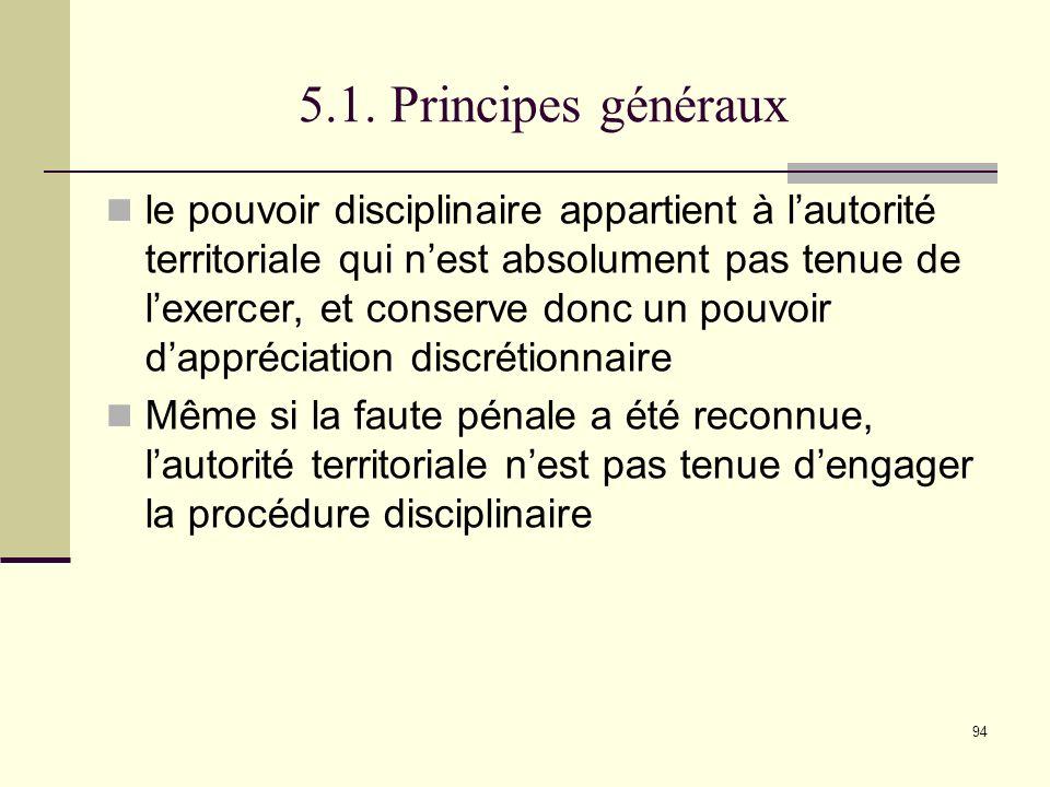 5.1. Principes généraux