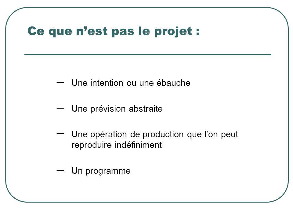 Ce que n'est pas le projet :