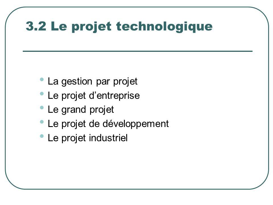 3.2 Le projet technologique