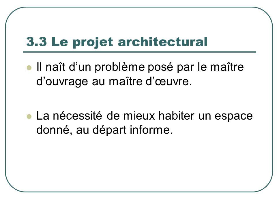 3.3 Le projet architectural