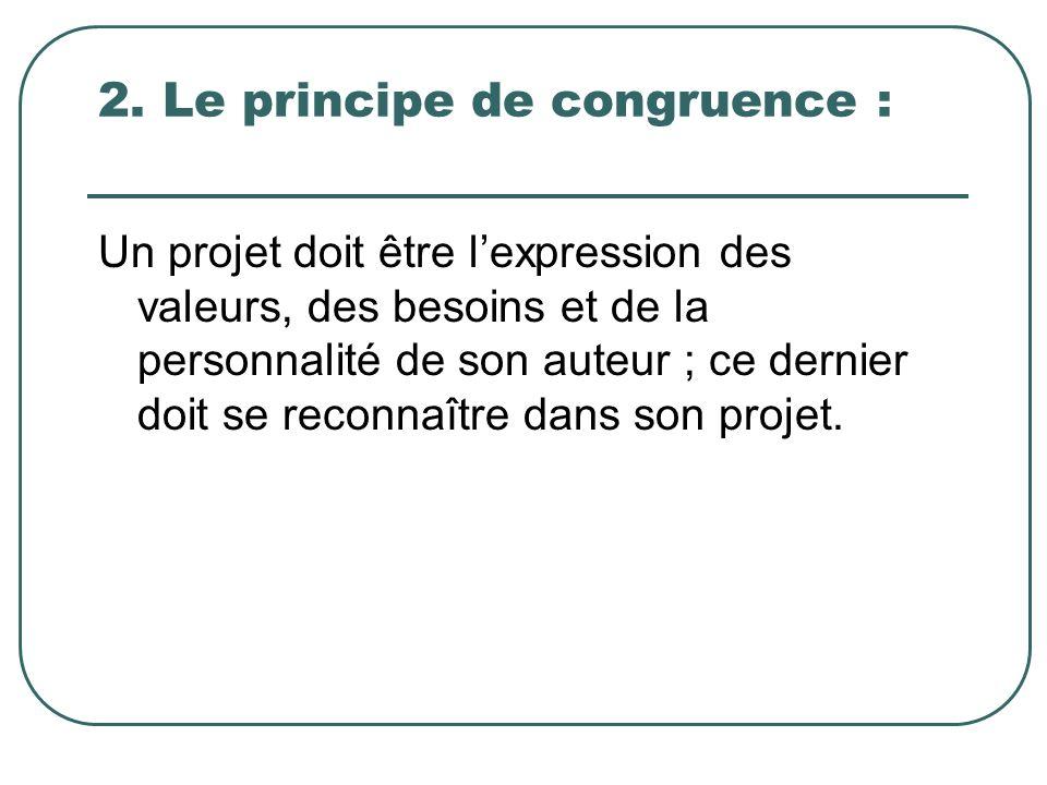 2. Le principe de congruence :