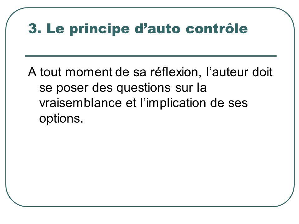 3. Le principe d'auto contrôle