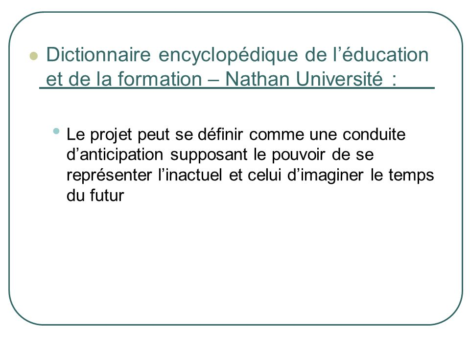 Dictionnaire encyclopédique de l'éducation et de la formation – Nathan Université :