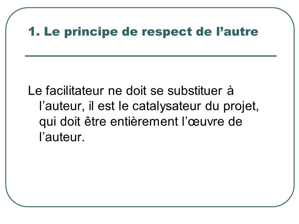 1. Le principe de respect de l'autre