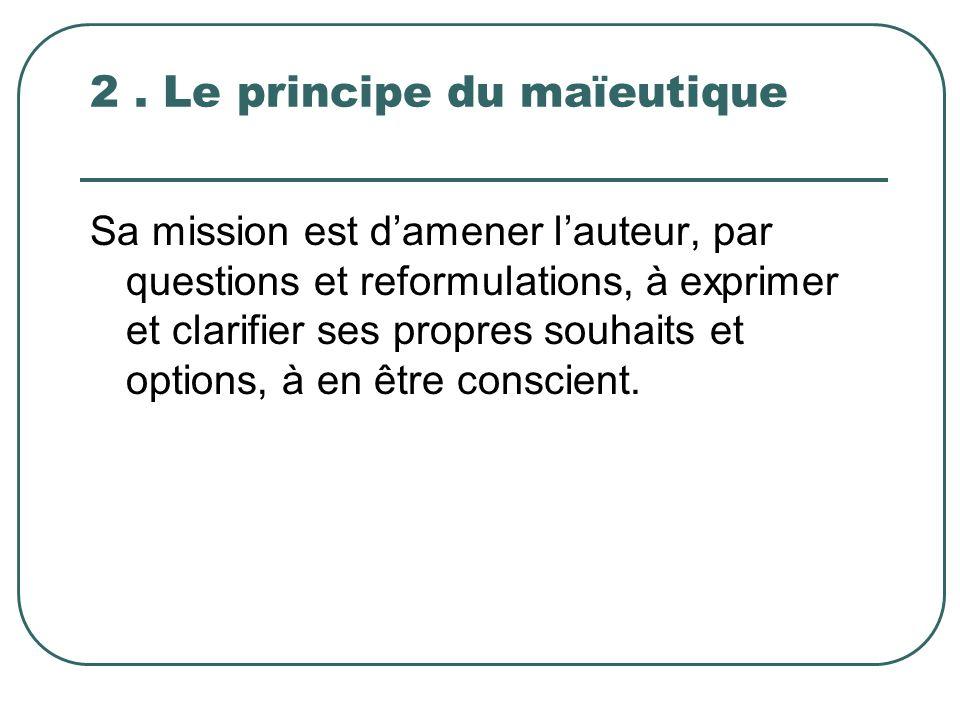 2 . Le principe du maïeutique