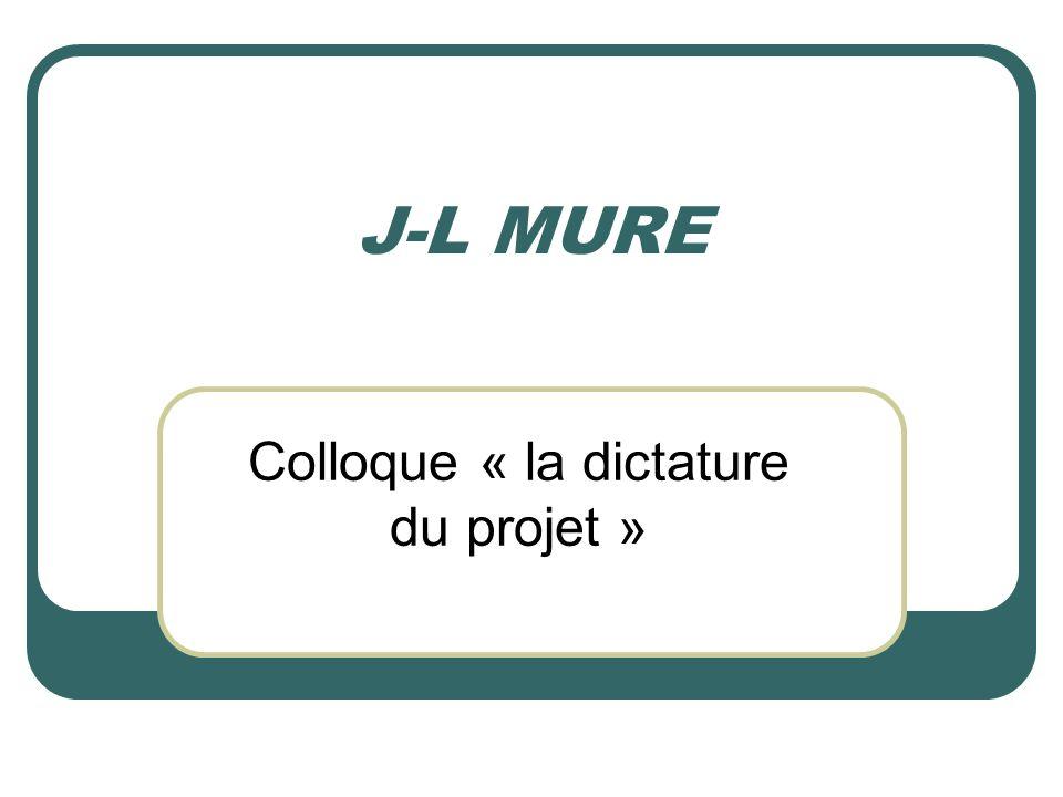 Colloque « la dictature du projet »