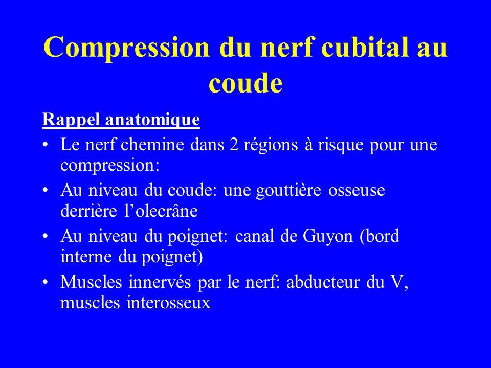 Compression du nerf cubital au coude