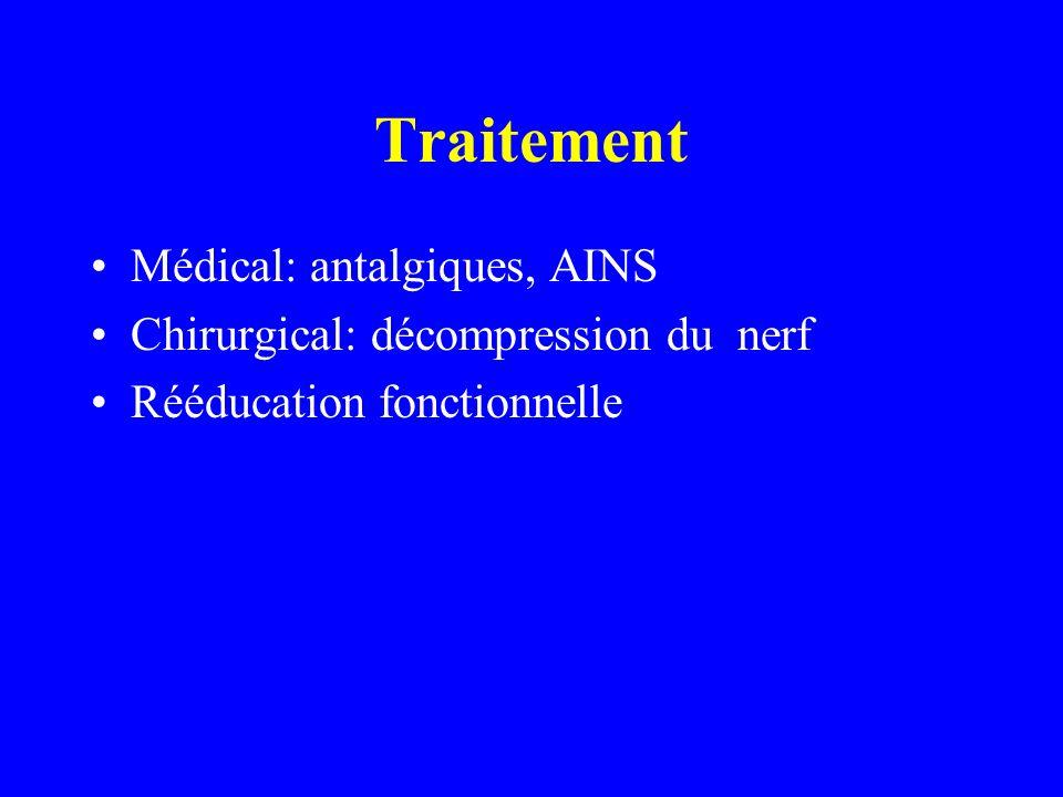 Traitement Médical: antalgiques, AINS