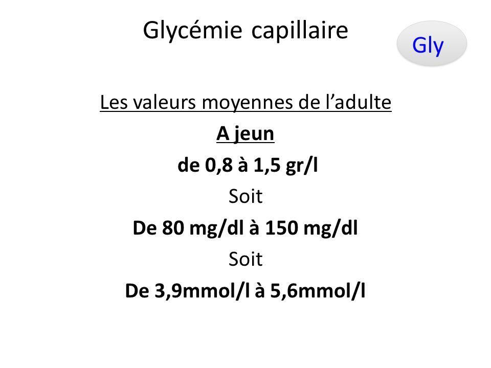 Glycémie capillaire Gly