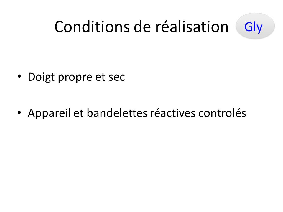 Conditions de réalisation