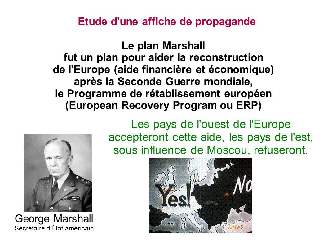 Etude d une affiche de propagande