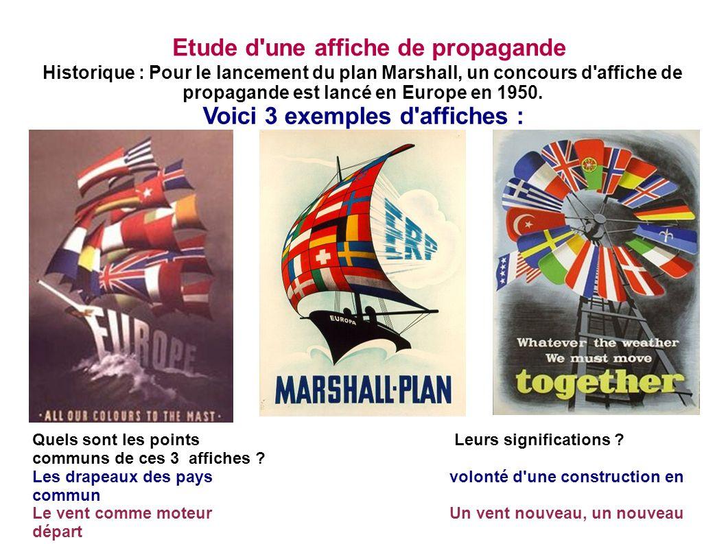 Etude d une affiche de propagande Voici 3 exemples d affiches :