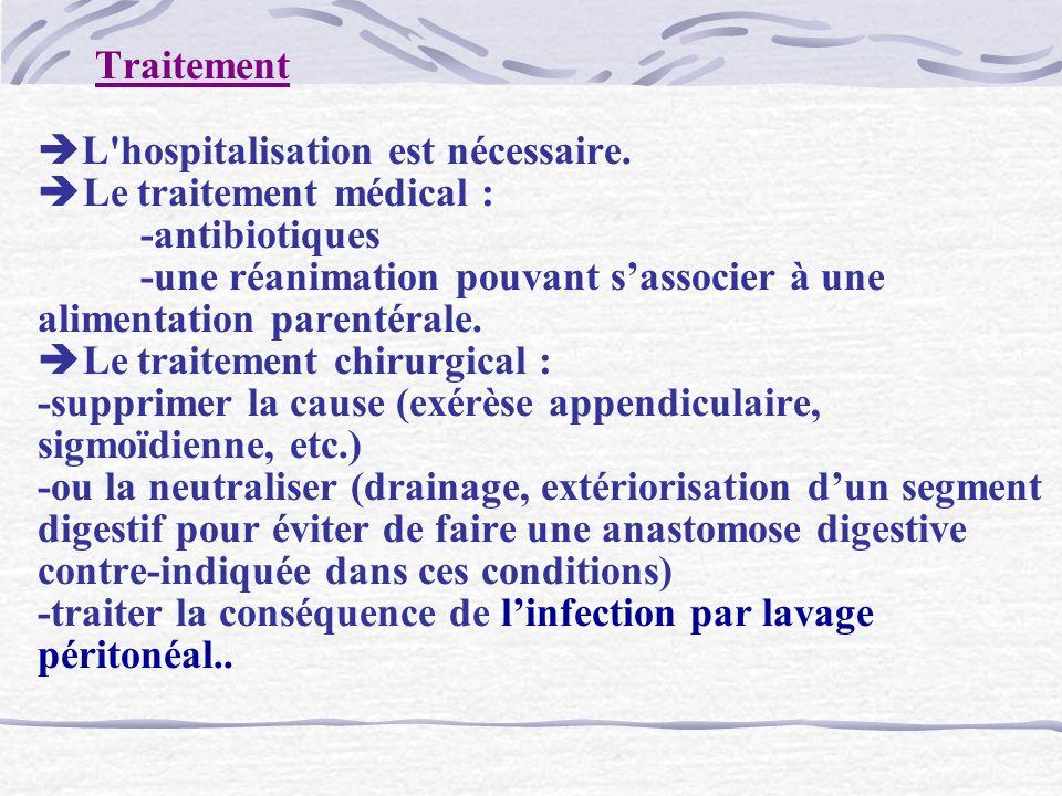 Traitement L hospitalisation est nécessaire