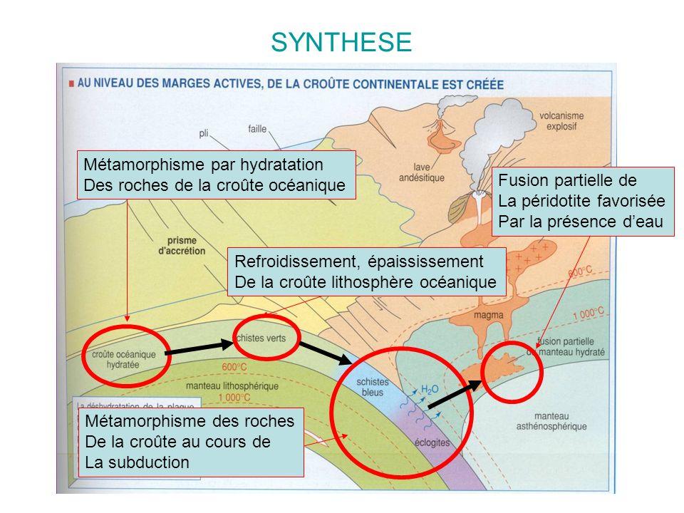 SYNTHESE Métamorphisme par hydratation