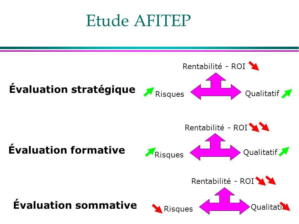 Etude AFITEP Évaluation stratégique Évaluation formative