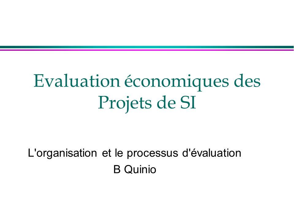 Evaluation économiques des Projets de SI