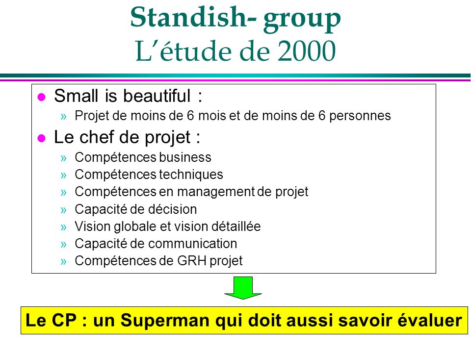 Standish- group L'étude de 2000