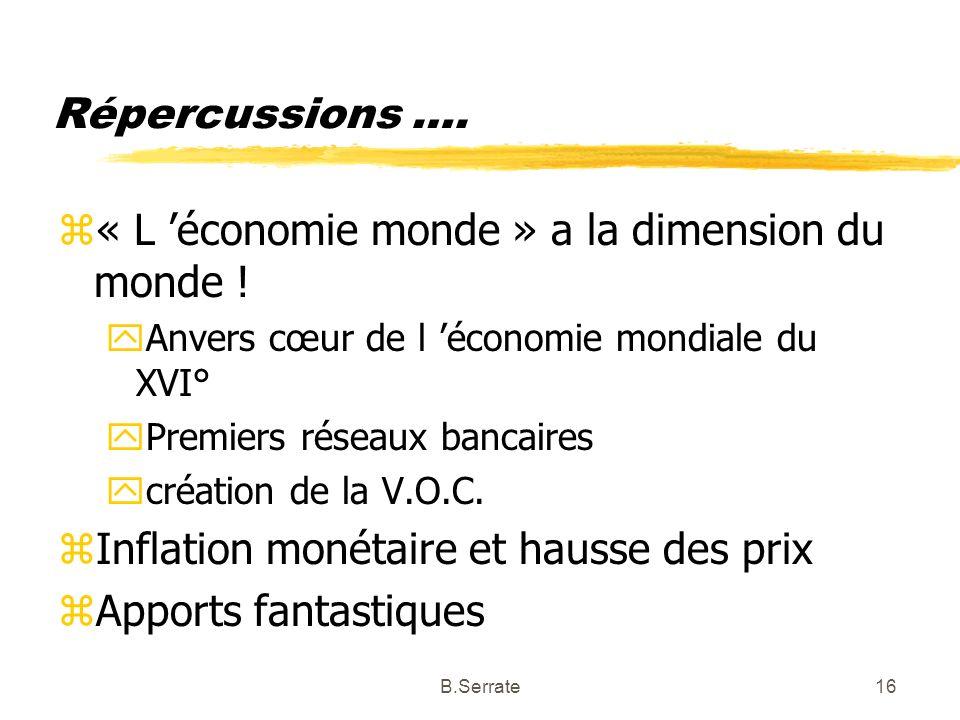 « L 'économie monde » a la dimension du monde !