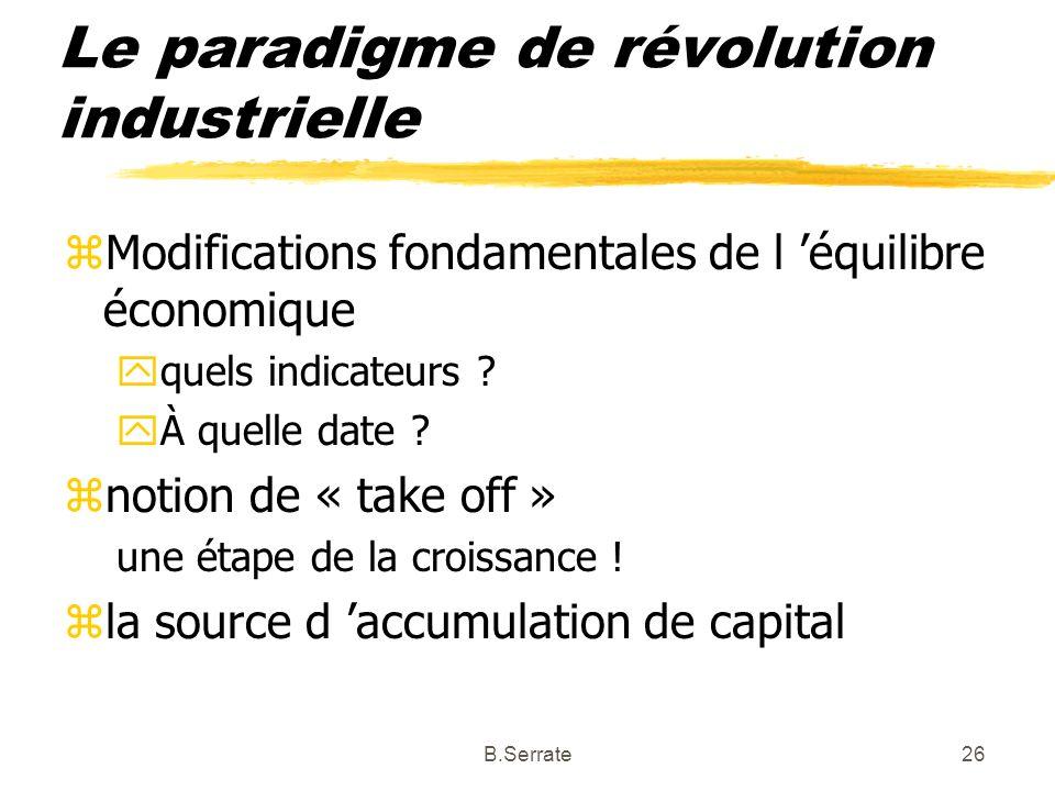 Le paradigme de révolution industrielle