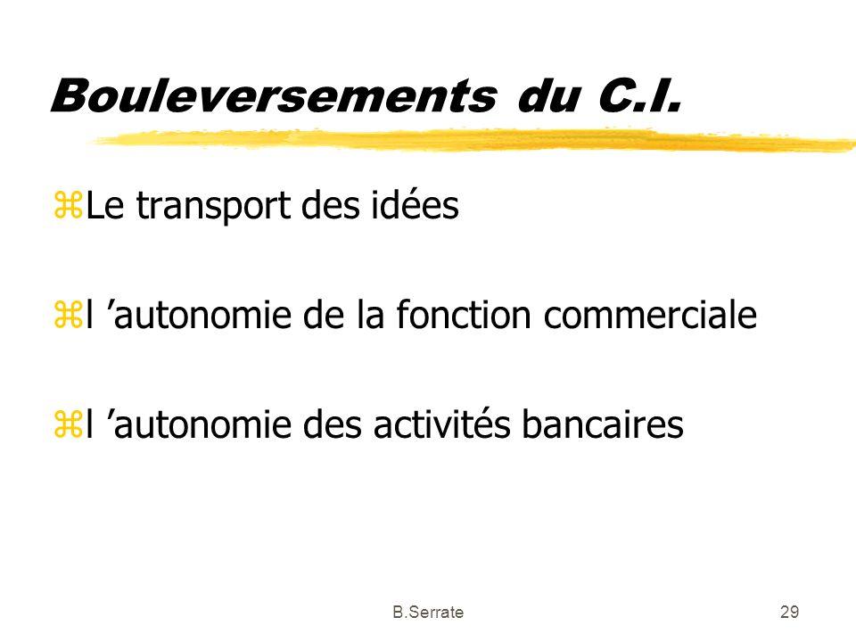 Bouleversements du C.I. Le transport des idées