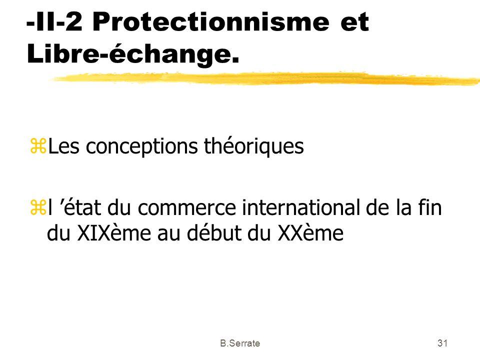 -II-2 Protectionnisme et Libre-échange.