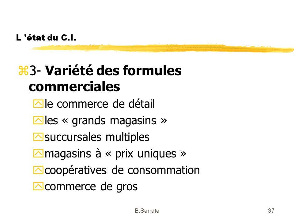 3- Variété des formules commerciales