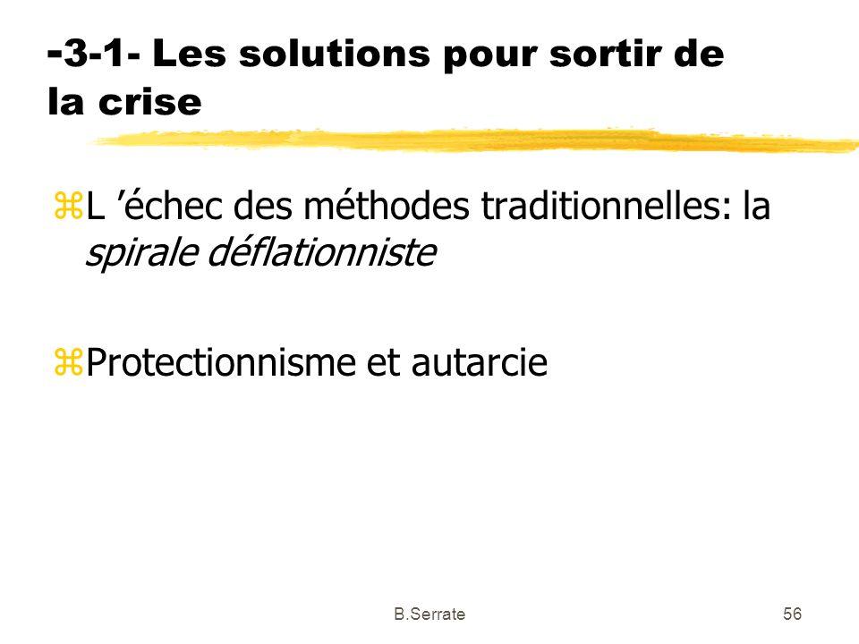 -3-1- Les solutions pour sortir de la crise