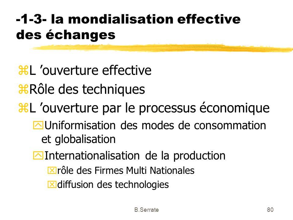 -1-3- la mondialisation effective des échanges