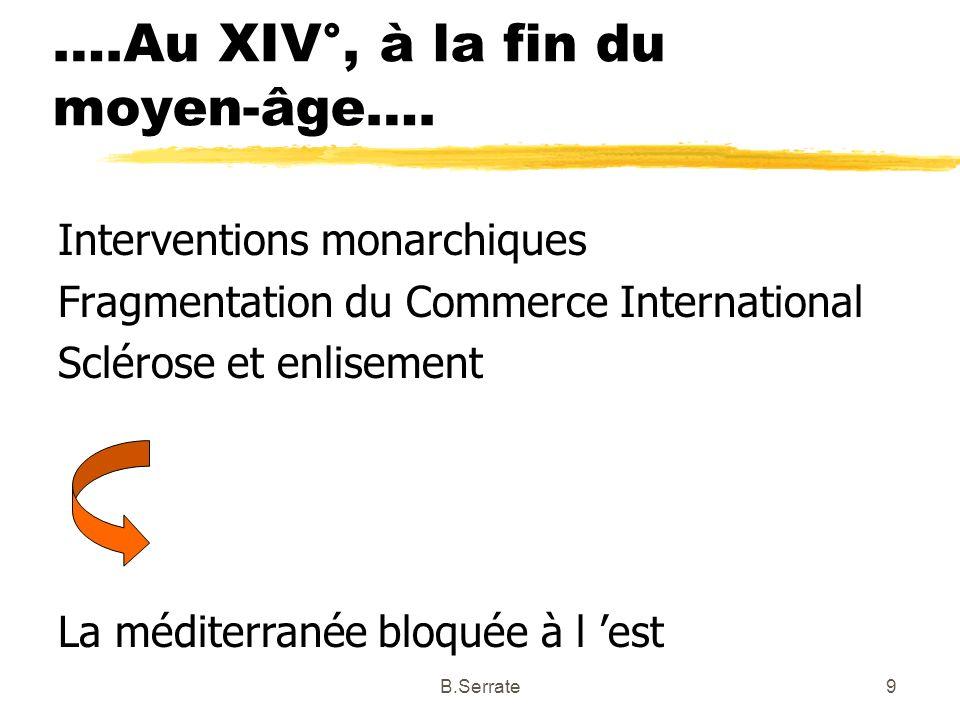….Au XIV°, à la fin du moyen-âge….