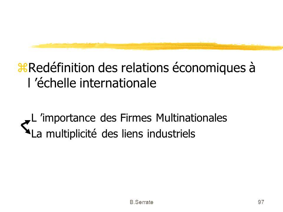 Redéfinition des relations économiques à l 'échelle internationale