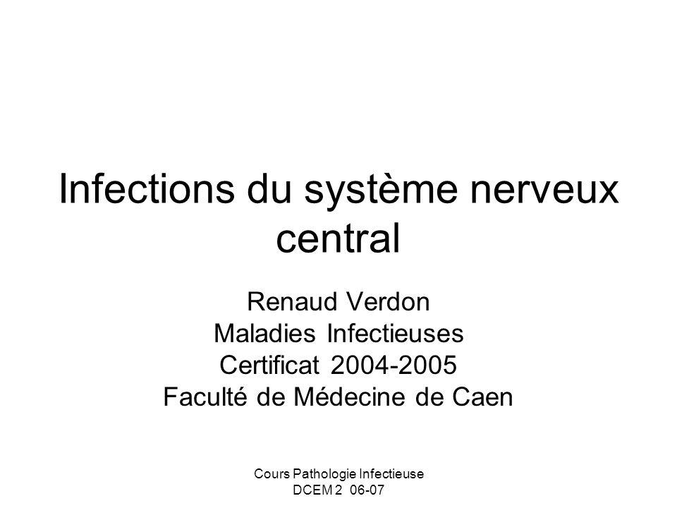 Infections du système nerveux central