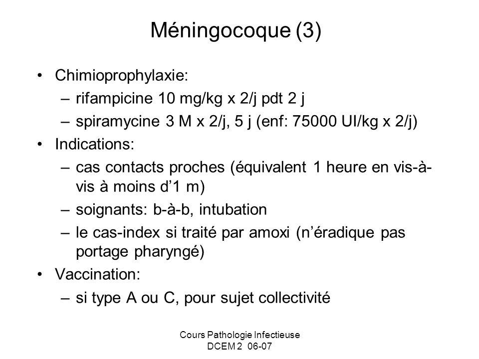 Cours Pathologie Infectieuse DCEM 2 06-07