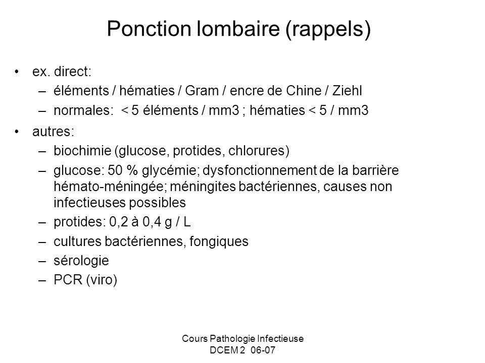 Ponction lombaire (rappels)