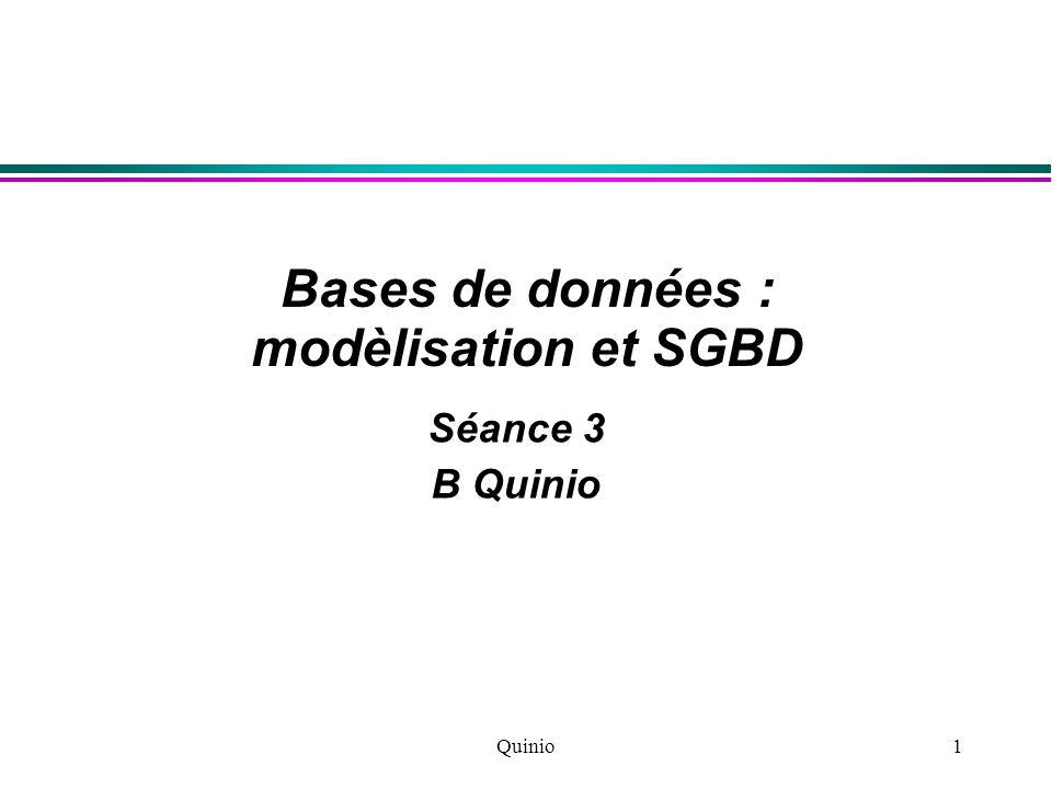 Bases de données : modèlisation et SGBD