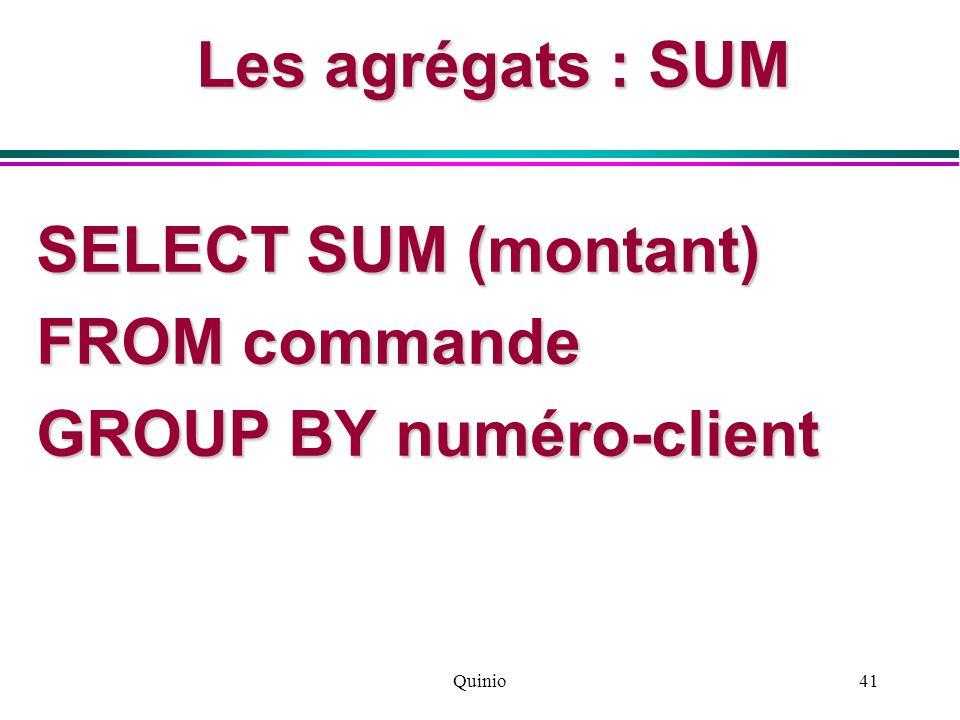 GROUP BY numéro-client