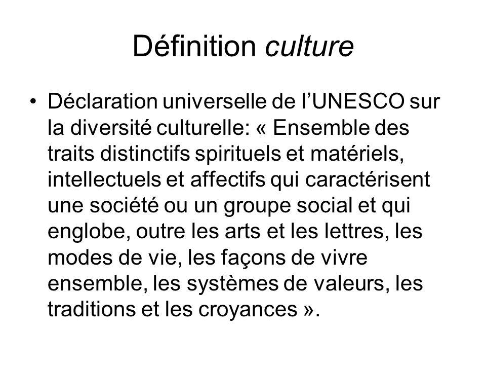 Définition culture