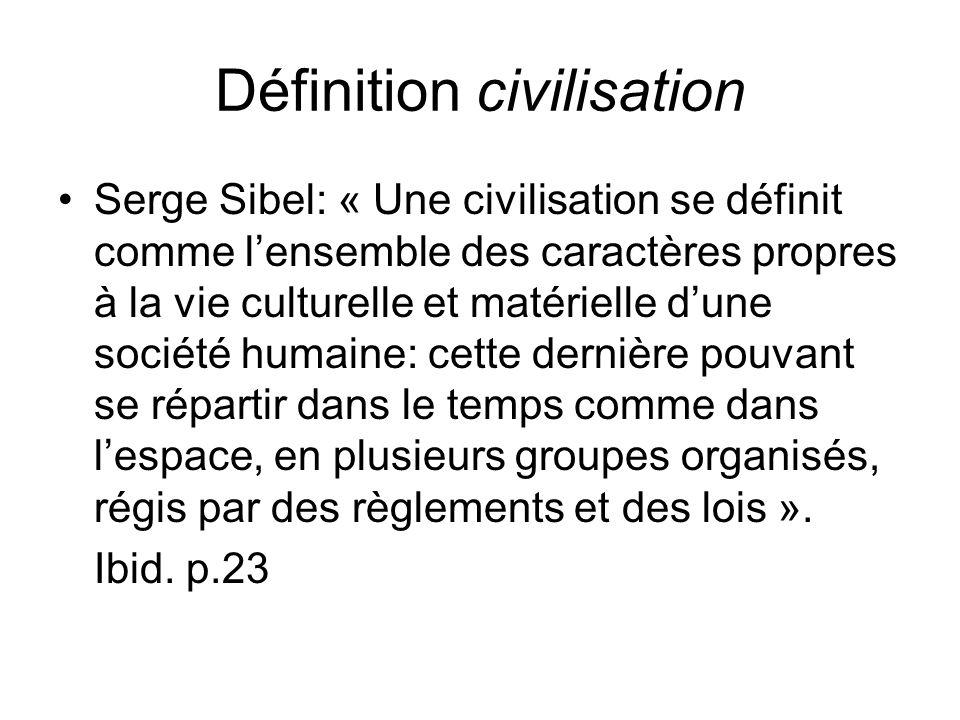 Définition civilisation