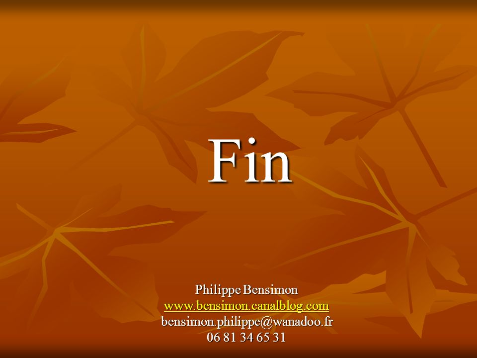 Fin Philippe Bensimon www.bensimon.canalblog.com