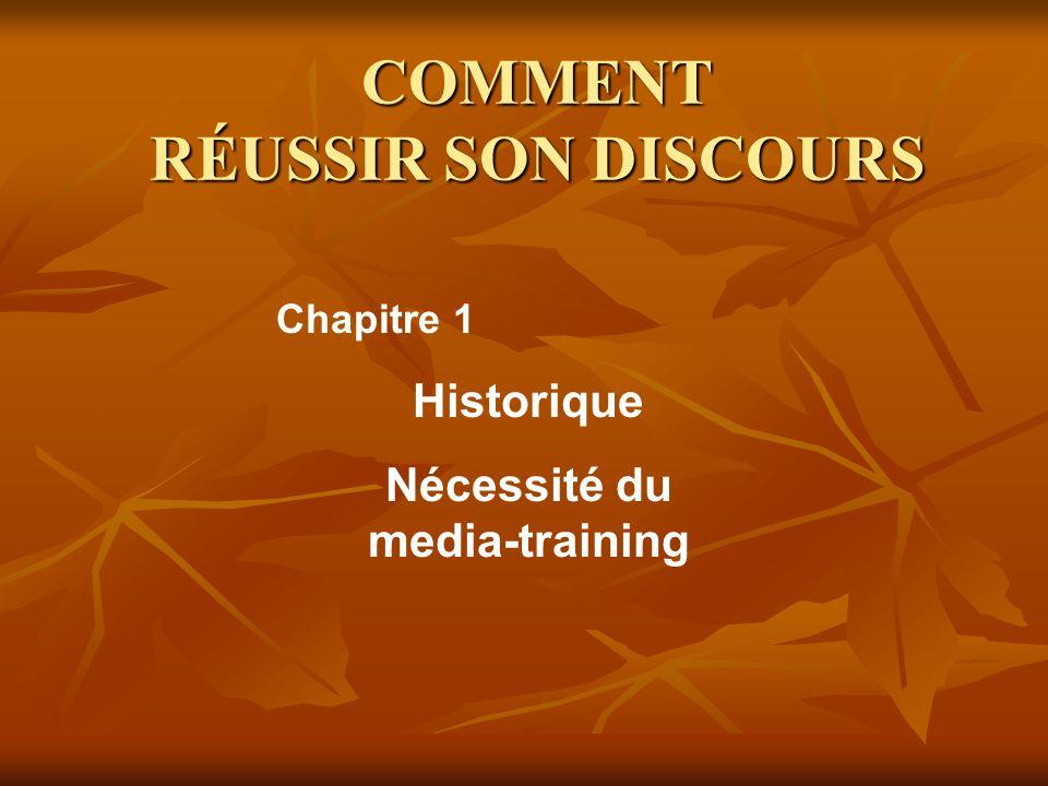 COMMENT RÉUSSIR SON DISCOURS