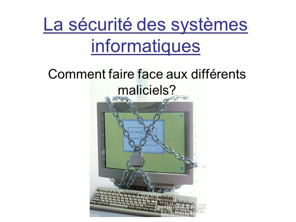 La sécurité des systèmes informatiques