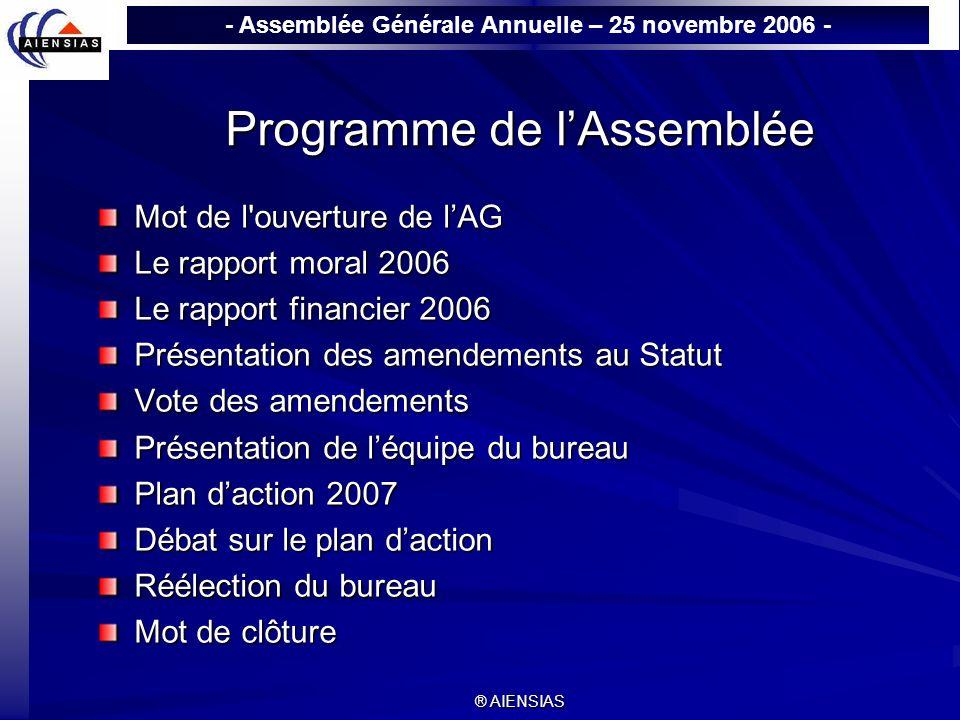 Programme de l'Assemblée