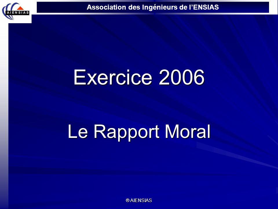 Exercice 2006 Le Rapport Moral ® AIENSIAS