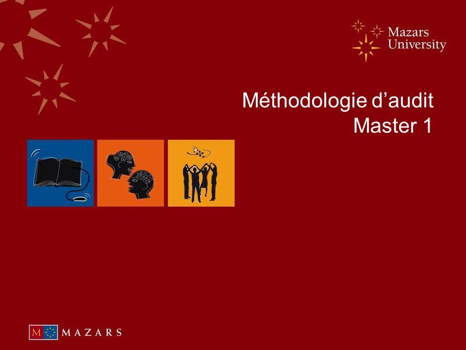 Méthodologie d'audit Master 1